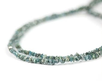 SUMMER SALE Diamond Rough Beads Conflict Free Blue Natural Chip Beads Precious Gemstone April Birthstone