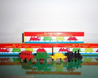 Miniature Metal Train Set New Vintage Stock in Box Toy Train Metal Train Japan Dollhouse Furniture