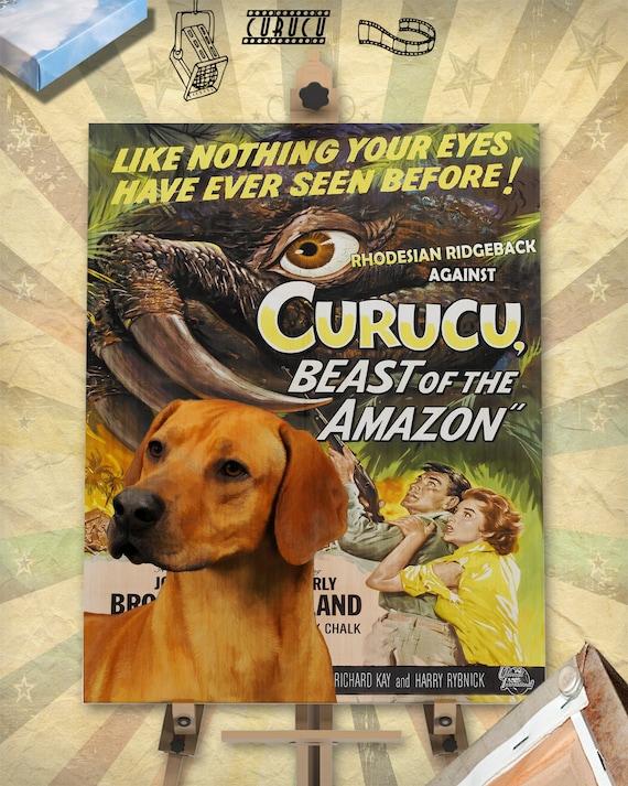 Rhodesian Ridgeback Art Curucu Painting Dog Gift Vintage Movie Poster Dog lover Custom Dog Portrait from photo best selling wall art decor