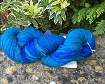 "100grms hand painted merino/nylon yarn "" Blue seas """