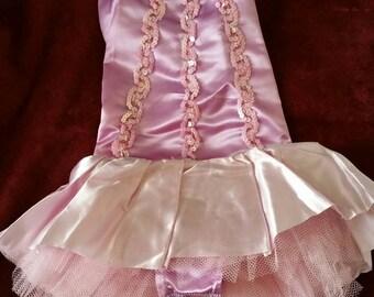 Vintage Girl's Handmade Purple Ballet Ballerina Tutu Dance Costume