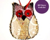 Burlap Owl Craft - Fabric...