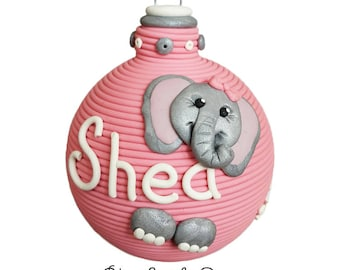 Baby Elephant First Christmas ornament