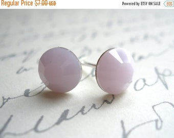 SALE Opal Stud Earrings, Pink Earrings, Swarovski Crystal, Pink Opal, Soft Pink, Opalescent, Alabaster, Bridesmaid Gifts, Bridesmaid Earring