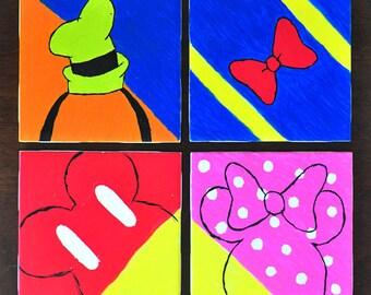Mickey Minnie Mouse Goofy Donald Disney Coasters