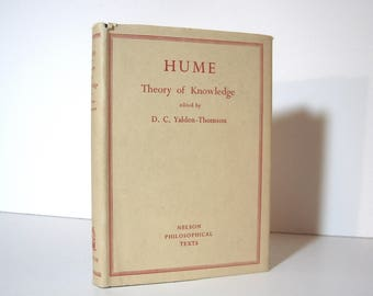 David Hume, Theory of Knowledge, Enquiry Concerning Human Understanding, Philosophy Book, Published 1951