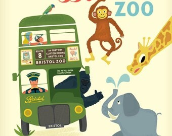 Bristol Greetings Card - The Zoo