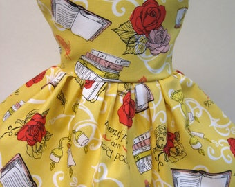 Disney's Beauty and the Beast, Good Reads, Sleeveless Dress for your 18 Inch Doll A