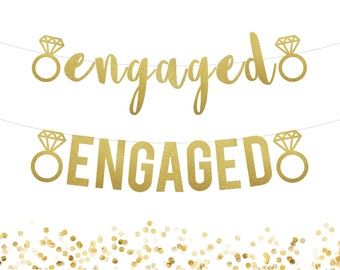 Engagement Party Decorations . Engaged Banner . Engagement Banner . Engagement Party Sign . Save the Date Banner . Engagement Photo Prop