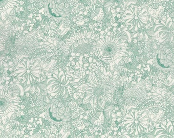 Fat eighth Fairy Land Liberty print, garden and animal floral Liberty of London tana lawn