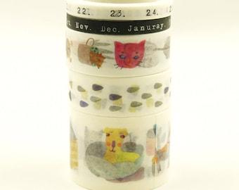 Brassy - Japanese Washi Masking Tape Box Set - 5 rolls - 3.3 Yard (each roll)