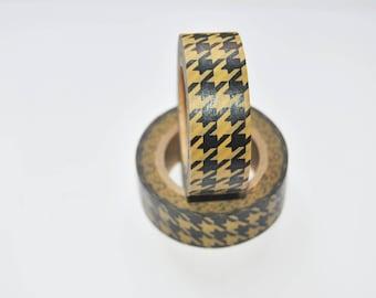 diamond pattern washi tape. black. kraft brown. Gift Wrap.Scrapbooking. Deco Tape Self-adhesive. Masking Tape. Gift Packing