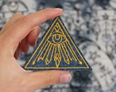 All Seeing Eye Embroidered Patch - Iron On