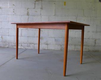 Mid Century Modern Teak Danish Dining Table
