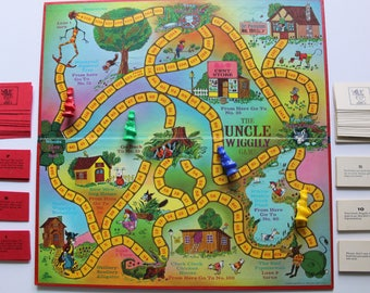 Vintage Parker Brothers The Uncle Wiggily Board Game 1967