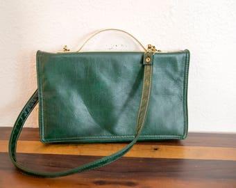 Cabrelli Emerald Green Clutch or Shoulderbag