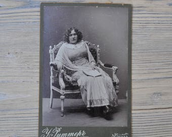 Antique Imperial Russian Cabinet card, Antique Photo, Cabinet Portrait.
