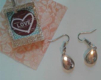 Material Girl Teardrop  Crystal Earrings