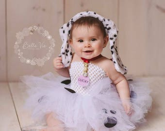 Dalmatian Costume, 101 Dalmatians, Dalmatian Tutu, Dalamatian Dress, Baby Halloween Costume, Toddler Halloween Costume, first birthday tutu