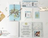 x1 Passport style Travel Wedding/Birthday/Baby Shower Invitation and RSVP set/Destination wedding/ SAMPLE