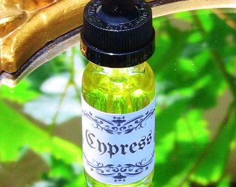 Cypress Oil Spiritual Ritual Oil Spirits Protection Blessing Samhain CURIO Gypsy Witch Magick Pagan Wicca