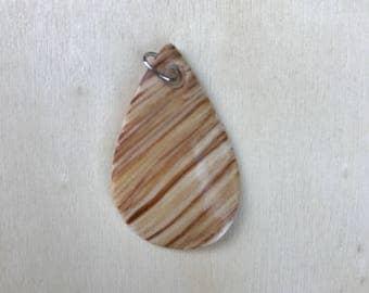 Faux Wood Grain Porcelain Pendant