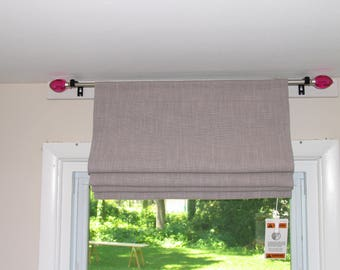 Fully FUNCTIONAL Rod Pocket Roman-Shade-UNLINED Original Design to Easy - made to order