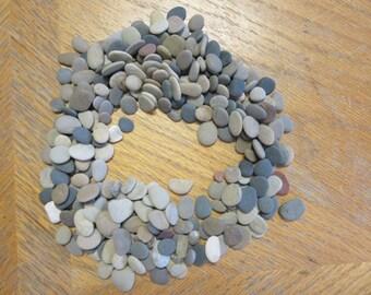 Bulk 300 Beach Stones Pebbles Lake Michigan Mosaic Stone Craft Supplies