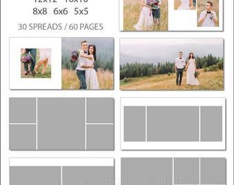SALE 5x5 ProDPI Album Template 60 Page - Includes 12x12, 10x10, 8x8, 6x6, 5x5 - INSTANT DOWNLOAD - ALB33