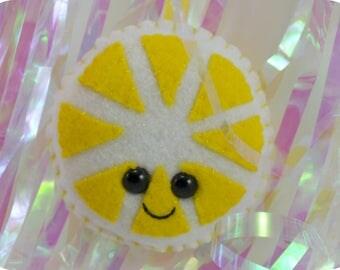 Lemon Slice Plush Ornament