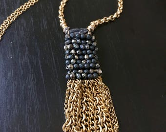 Handmade tassel pendant
