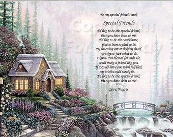 Friendship...Special Friend..  Sentimental Print Gift 1123