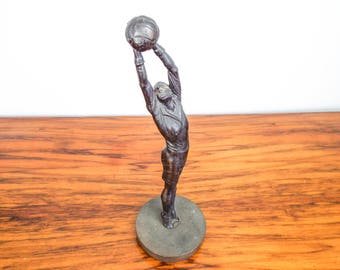 Vintage Bronze Metal Soccer Sculpture Football Statue Figure Sculpture 1920s 30s