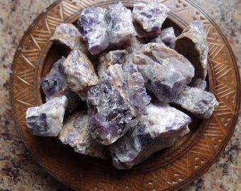 AMETHYST Stone Gemstone Crystal Raw 4 oz Wiccan Pagan Metaphysical Reiki Chakra Supply