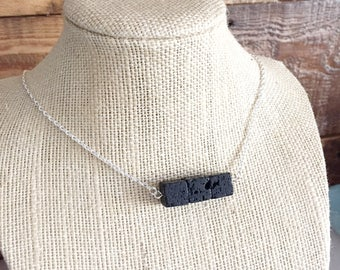 Lava essential oil diffuser necklace - Lava Stone Necklace - Aromatherapy Jewelry - Lava Bead Necklace - Stress Release