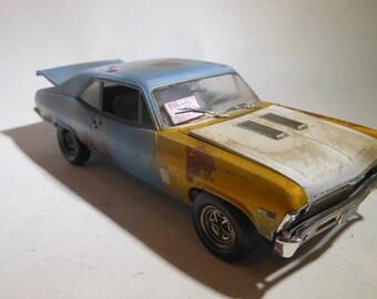 1/24Scale,Chevy Nova, MuscleCar,RustedWreck,Scale Model,JunkYard,RatRod