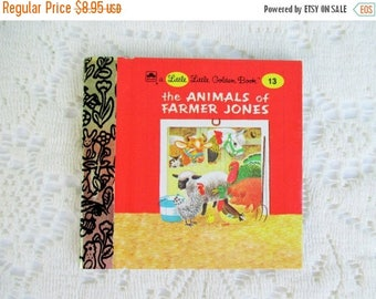 SALE 20% OFF The Animals of Farmer Jones, Original Little Little Golden Book, 1990s Miniature Classics 24 Pages-New Old Stock Unused