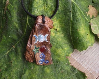 Four elements amulet - Witch amulet - Pagan pendant