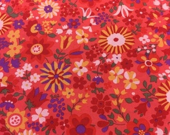 Rowan fabric Marylebone katy in red by the Half Metre