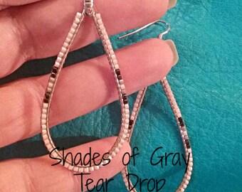 Beaded Tear Drop Earrings - Beaded Earrings- Earrings - Gift Ideas - Jewelry - Elusive Wolf