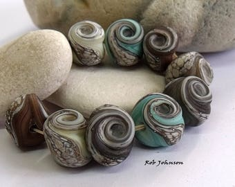 Yorkshire Mix, Lampwork Beads, SRA, UK