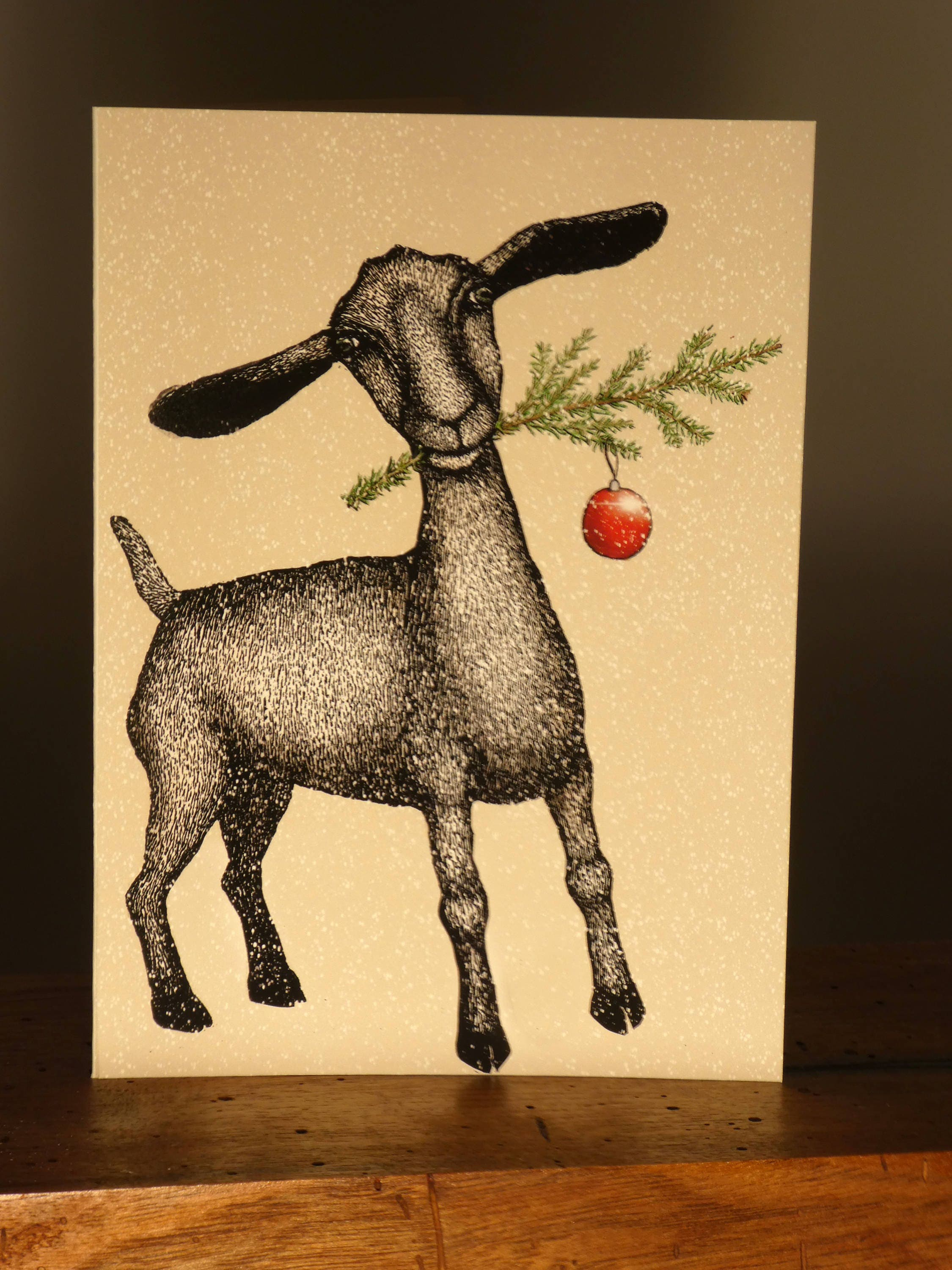 Goat holiday greeting card eco friendly kristyandbryce Images