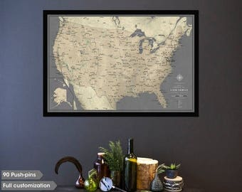 Maps Of The USA USA Maps Imus Geographics Large Vintage Framed - Large framed us map