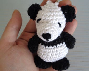 Panda keychain, crochet panda, panda crochet, amigurumi, crochet animal, amigurumi, crochet amigurumi, crochet panda keychain