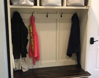 Entryway Bench With Storage/entryway Furntiure/organization/shoe Storage/coat  Rack/