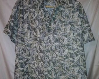 "BIG SUMMER SALE 54"" Chest-Van Heusen-Rayon Aloha Print Hawaiian Style Casual Shirt-48"" Chest-Large-Hipster Resort Beach"