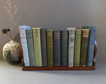 Tabletop Bookshelf Folk Art Bohemian Decor Wood Book Storage