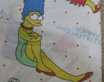 Vintage SIMPSONS Twin Flat Sheet