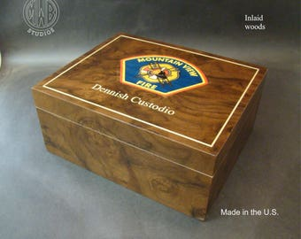 Custom Humidor Handcrafted in the U.S.  HD-50 with free shipping.