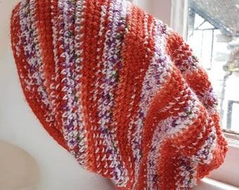 Handmade Crochet Slouch / Tam Hat Handmade in snowdonia wales UK